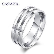 CACANA acier inoxydable anneaux pour les femmes de polissage en acier inoxydable…