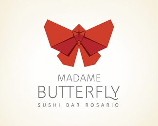 Madame Butterfly Sushi Bar Logo | Designed by Tedbt2c