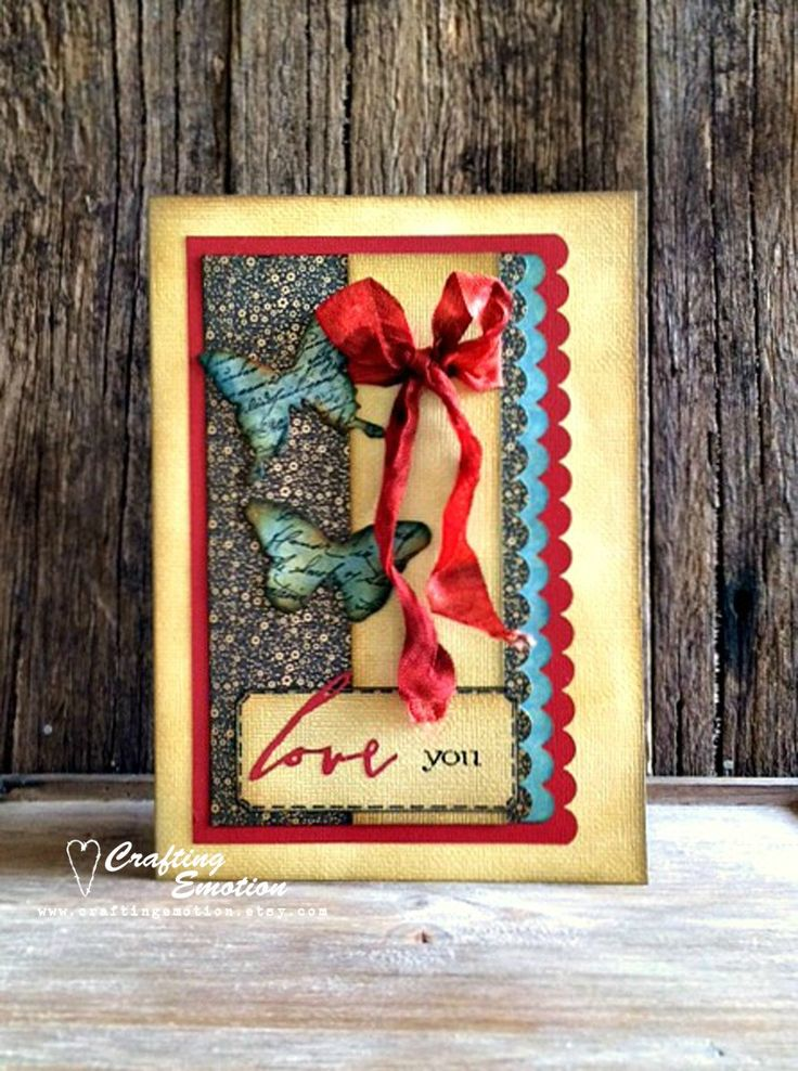 Handmade Mother's day Card, One of a Kind Card, Unique Greeting Card, Love You Card, Butterfly Card, Anniversary Card, Valentine's Card by CraftingEmotion on Etsy $12.25AUD