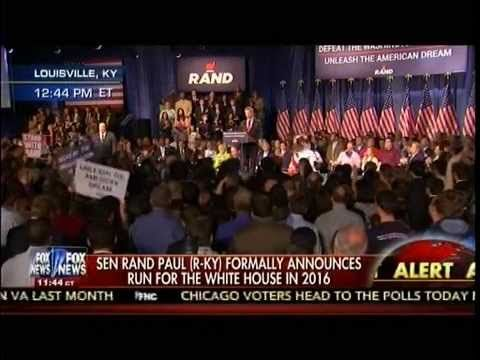 Sen Rand Paul (R-KY) Announce He's Running For President 2016 - Louisvil...