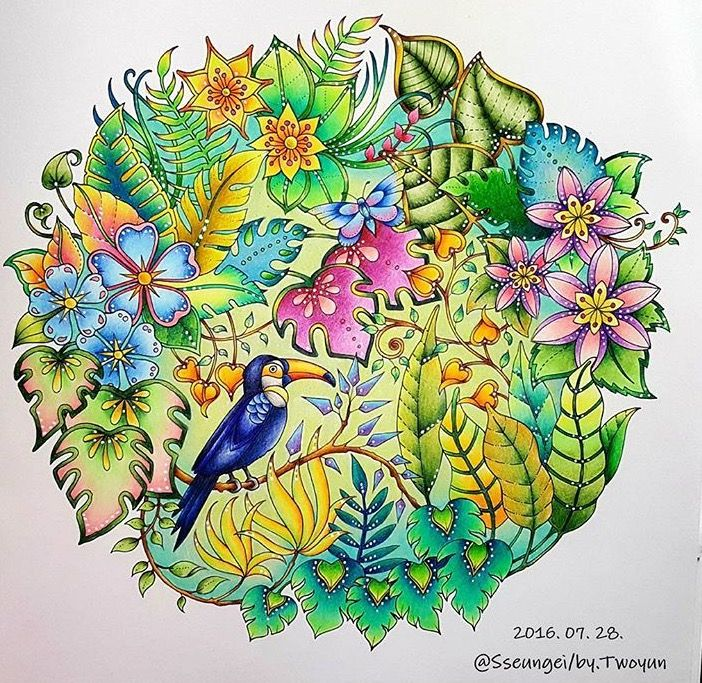 Inspirational Coloring Pages By Sseungei Magicaljungle Selvamagica Johannabasford Livrosdecolorir Coloringbook