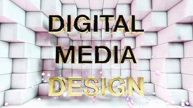 2015 Digital Media Design Reel opening title