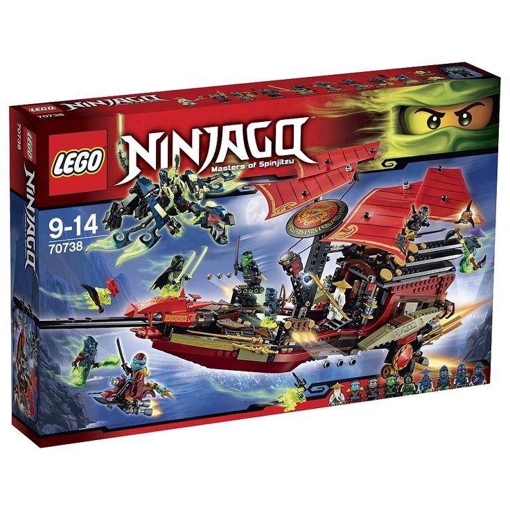 LEGO - 70738 Laatste vlucht van de Destiny's Bounty hoort bij de LEGO Ninjago-speelwereld.<br><br>Talloze avonturen wachten op je met de laatste vlucht van de Destiny's Bounty! Met meer dan 1250 LEGO-bouwelementen die je door de gemakkelijk te begrijpen bouwinstructies met spelend gemak in elkaar steekt, en met talrijke extraatjes heb je de ultimatieve Ninja-speelplaats in de handen. Maar niet alleen het plezier aan het bouwen, ook het drama en de actie in de Ninjago-wereld staan hier in…