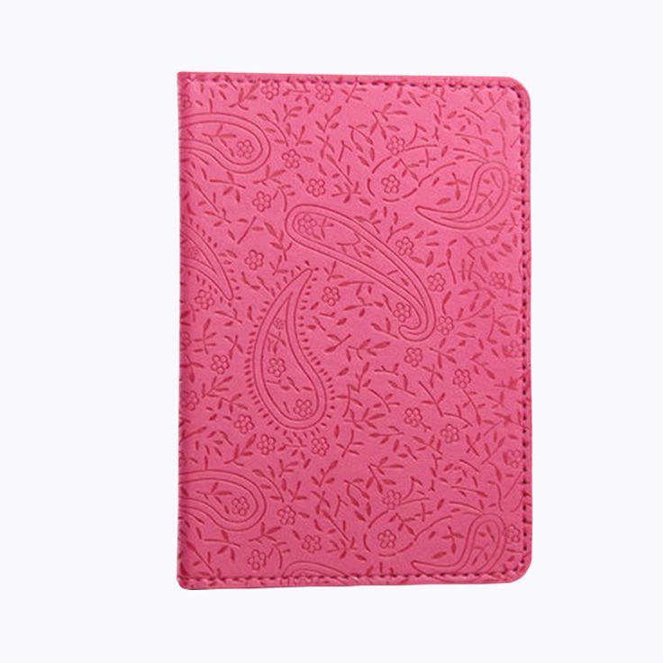 Señoras Floral Cubierta de la Caja Del Pasaporte Caja Del Pasaporte de la Mujer Rosa Lindo Chicas Casual Pu estuche de Cuero para pasport
