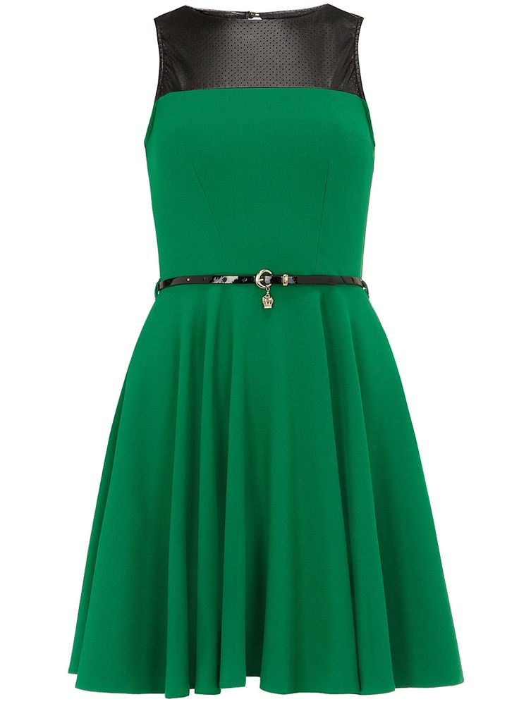Green leather look dress - View All - Dresses - Dorothy Perkins United States