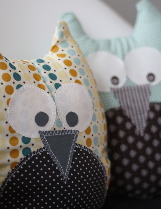DIY Mitbringsel: Eulenkissen Zum Selber Nähen (Sewing Souvenir: Stuffed Owls To Sew) | Sanvie (with template) (in German)