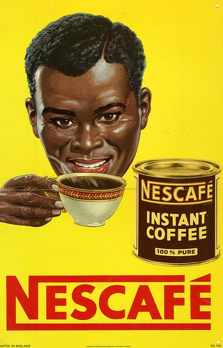 Nescaf 201 75 Years 1950s A Poster Advert From Nigeria In