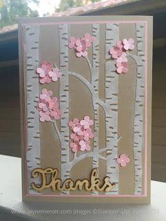 Stampin' Up! 'Woodland' Embossing Folder for Spring! - Jayne Mercer.