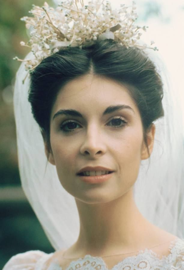 """Talia Shire (""""Constanzia 'Connie' Corleone""""). """"The Godfather"""" 1972, directed by Francis Ford Coppola. Behind the scenes photos. #cinema #film #wedding"""