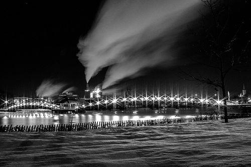 Edmundston @ Night by Eric Brisson