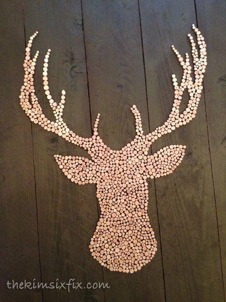 34 Wood Slice Home Décor Ideas: 17 Best Ideas About Deer Head Silhouette On Pinterest