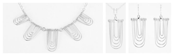 """Sound Waves""  Sterling silver."