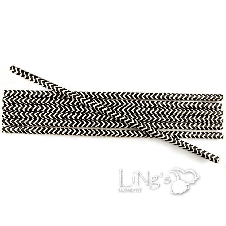 Ling's 100 stuks zwart chevron rietje papier bruiloft verjaardag decoratie gratis verzending in van op Aliexpress.com