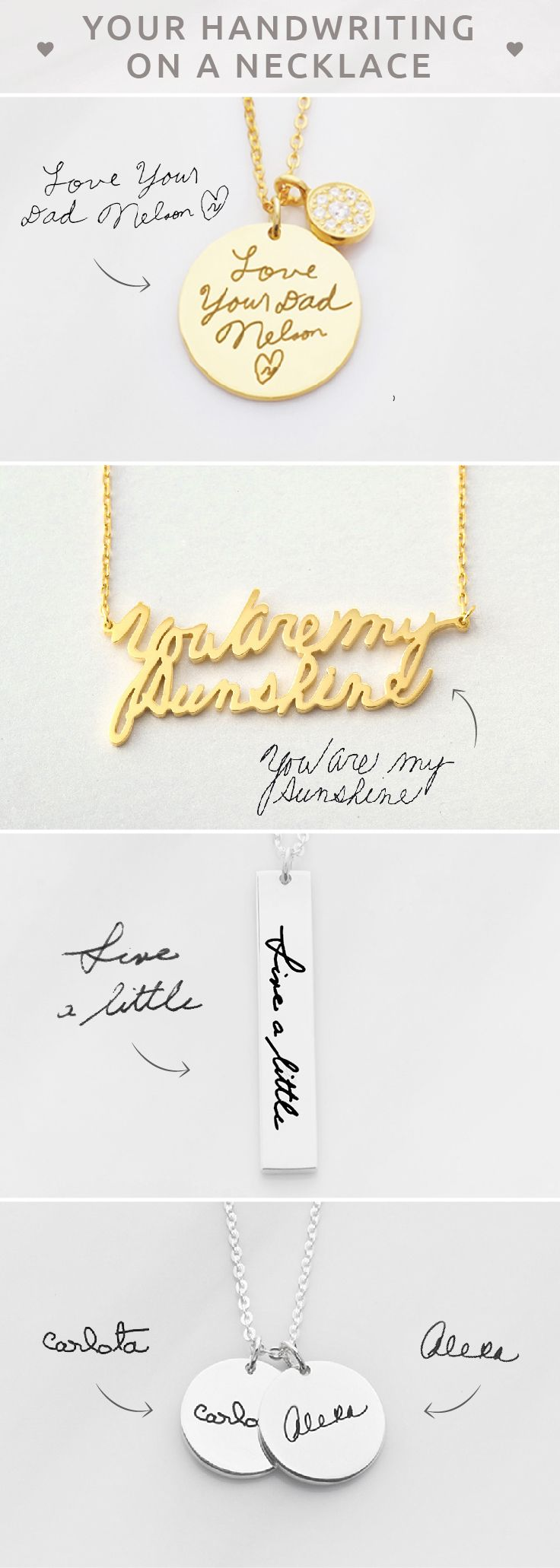 DAINTY Handwriting Necklace  • Actual handwriting necklace • Personalized handwritten necklace • Personalized Signature Necklace  • Engraved name necklace  • Memorial signature jewelry • Custom Handwriting Jewelry Sterling Silver • Memorial Necklace • Memorial jewelry for wedding • Christmas gifts  • christmas presents for mother in law • personalised engagement gifts for engaged couple • unique teacher gifts • birthday gift ideas for mom • bff gifts • unique gifts for mom
