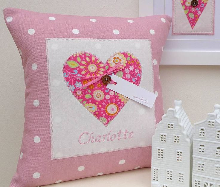 Personalised Bright Heart Cushion from notonthehighstreet.com