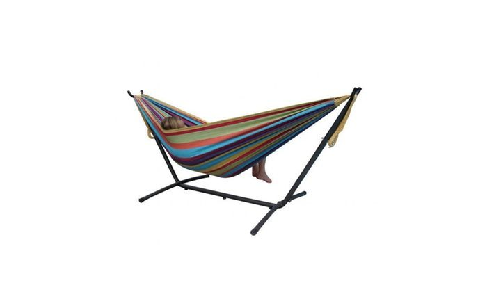 Vivere's Combo - Double Hammock with Stand 9Feet