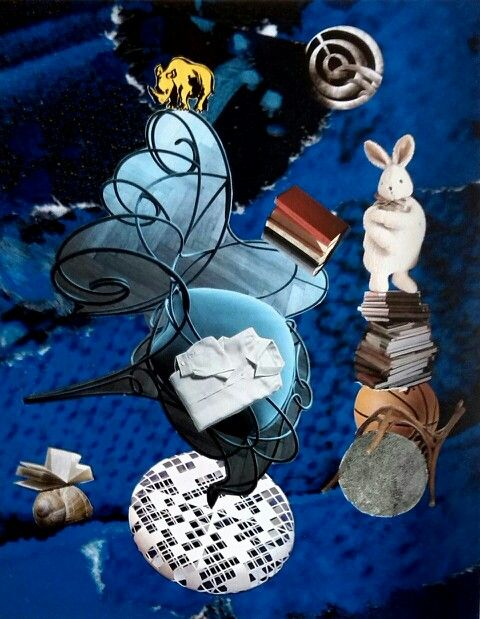 Blu di Luna/ Rino e la Luna Collage by Toto Dinoi