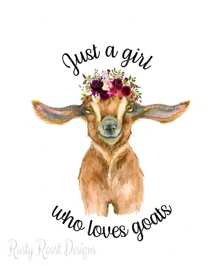 Just A Girl Who Loves Goats Png Goat Sublimation Design