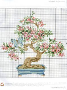 Borduurpatroon Bloem- Plant- Dier *Cross Stitch Flower- Plant- Animal ~Bonsai~
