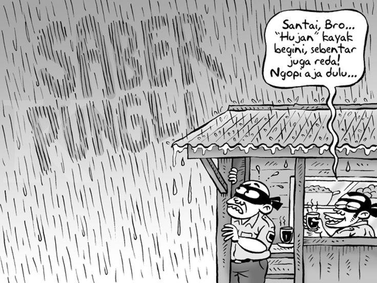 Kartun Benny: Pilih Tiarap Dulu Sumber: Kontan - Oktober 2016