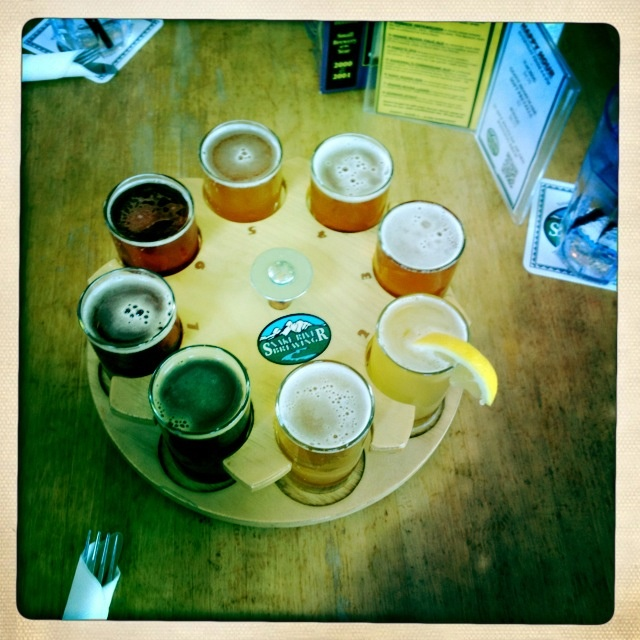 Snake River Brewery sampler. Good stuff. (Jackson, WY)