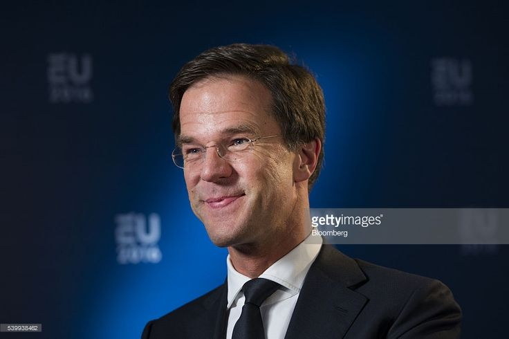 Mark Rutte, Dutch prime minister, smiles during a Bloomberg Television interview in Amsterdam, Netherlands, on Monday, June 13, 2016. Rutte said that he wouldn't rule out governing with anti-Islam Freedom Party leader Geert Wilders, as he acknowledged a collective failure by traditional parties to adequately respond to voter concerns. Photographer: Jasper Juinen/Bloomberg via Getty Images