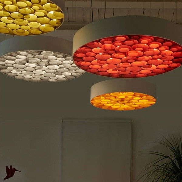 Round Wooden Creative Modern Suspension Light Nice Pendant Lamp for House