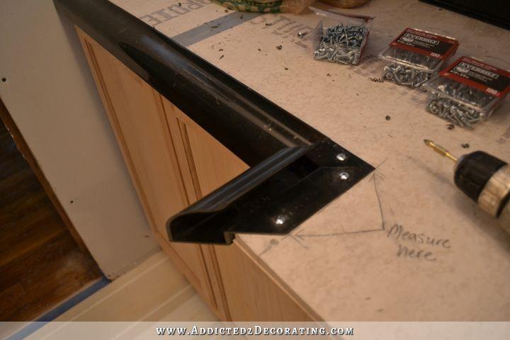 Diy Pour In Place Concrete Countertops Part 1 Addicted