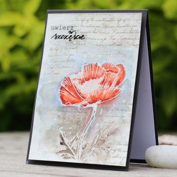 stamps card, Penny Black Dynamic poppy