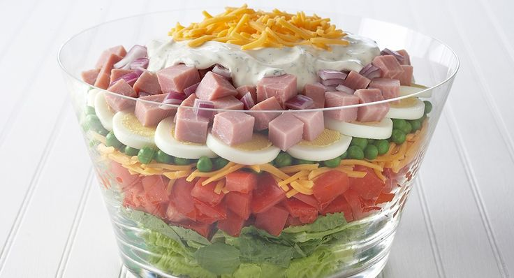 Easy Layered Salad***Now this is one I could really sink my teeth into! will make soon!