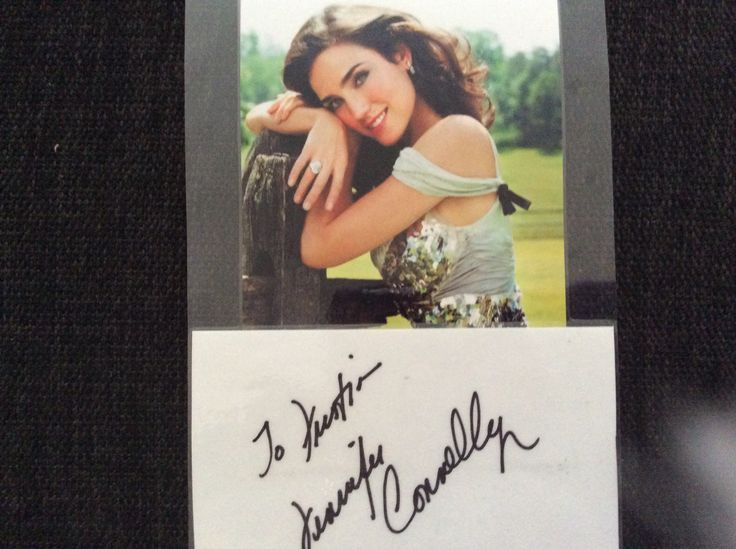 Jennifer Connelly. I got this for my husband