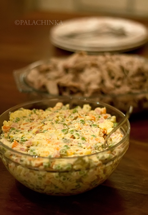Recipe: Russian Salad. Omggg I love this!!!!