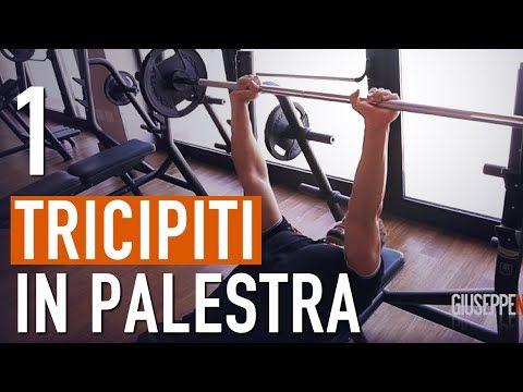 Allenamento TRICIPITI MASSA muscolare / Esercizi per fare massa - YouTube