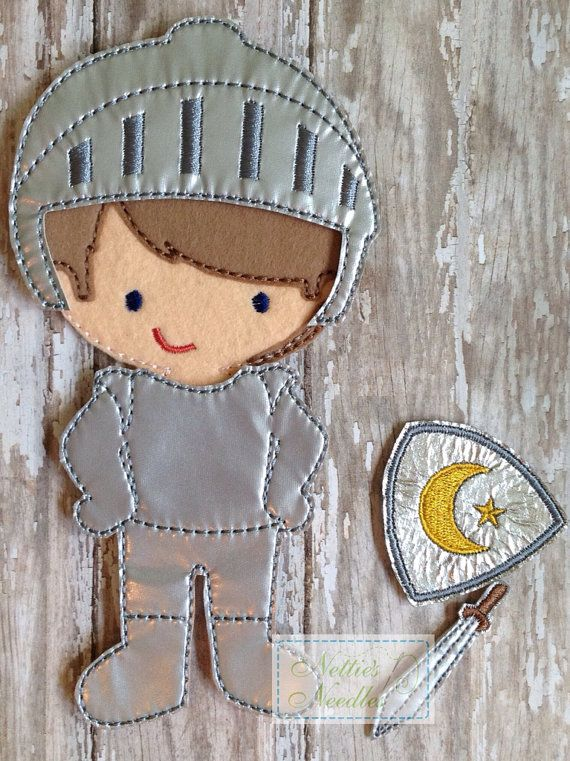 Slay Dragons Felt Un Paper doll Knight outfit by NettiesNeedlesToo, $6.00