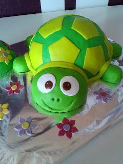 SyFlinga: Süß, süßer... Schildkröten-Kuchen (Turtle Fondant Cake)