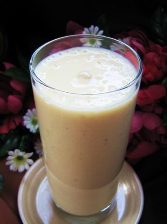 Banana Peach Almond Milkshake Recipe — Dishmaps