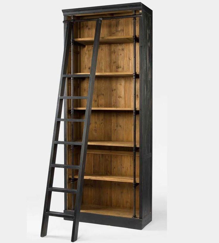 (http://www.zinhome.com/french-library-bookcase-with-ladder/)