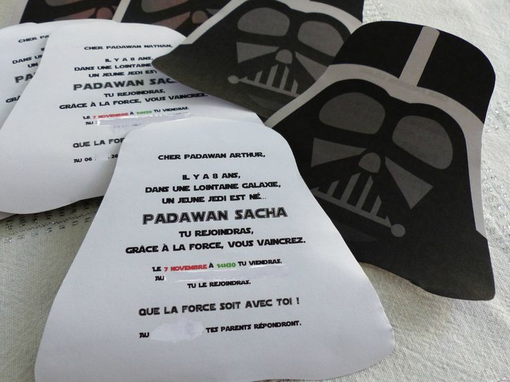 invitation anniversaire star wars diy