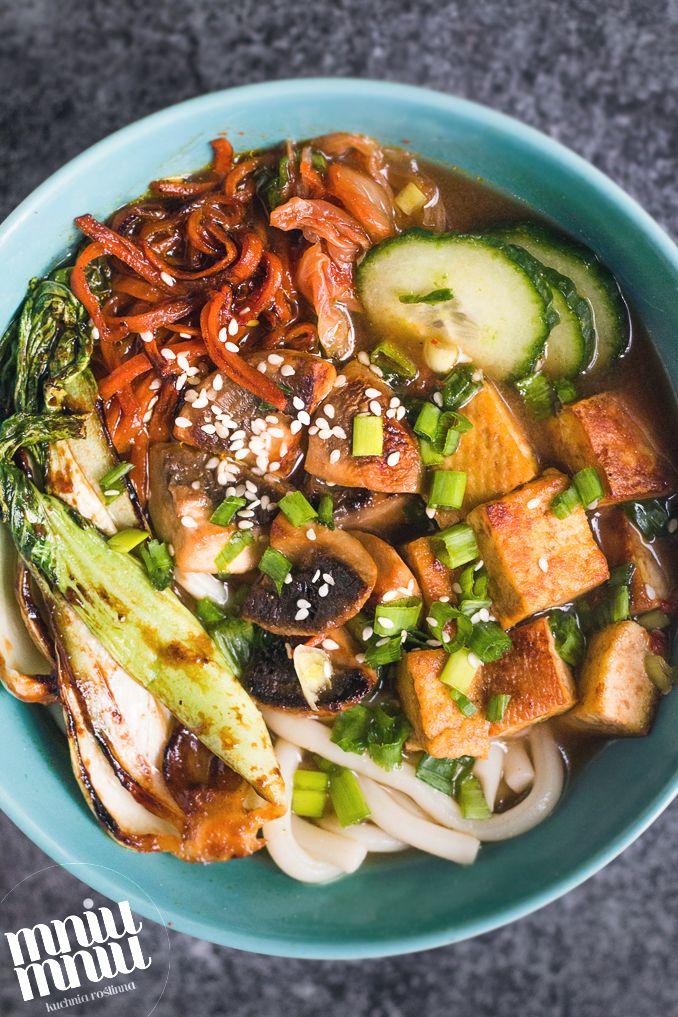 MniuMniu - Kuchnia roślinna: WEGAŃSKI RAMEN Z TOFU, PAK CHOI I KIM CHI