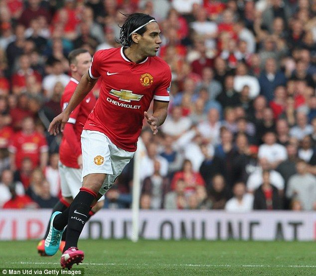 Falcao made his first appearance for Manchester United when coming off the bench in place ...