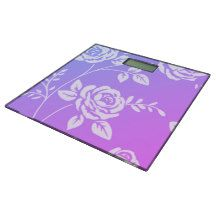 Tropical-Sunset _Floral (c) Unisex Bathroom Scale