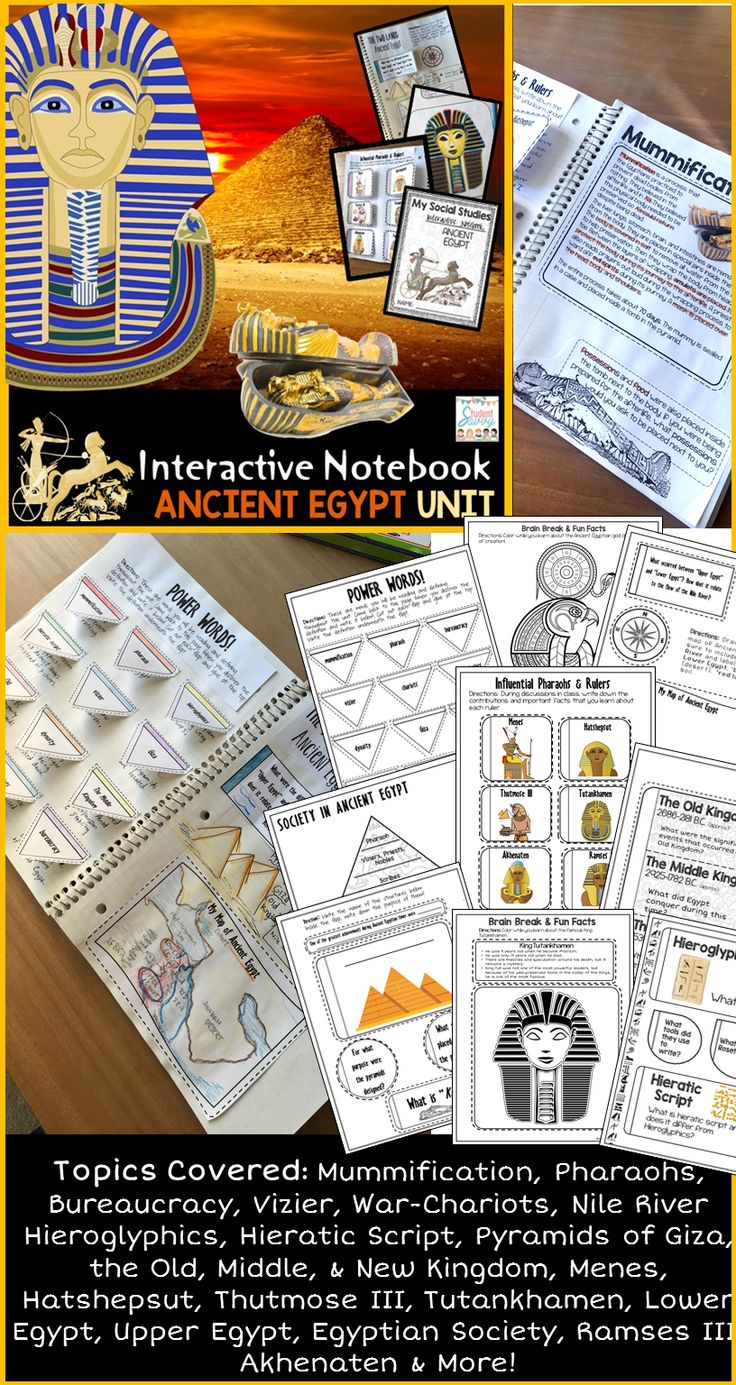 301 best ancient egypt images on pinterest ancient egypt social studies interactive notebook robcynllc Images