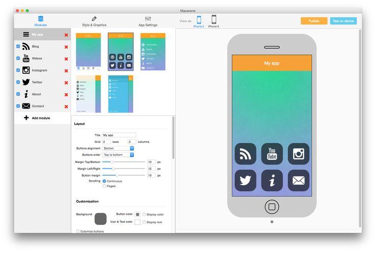TapPublisher 2 beta mobile app creator