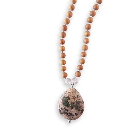 *Ocean Jasper, Clear Quartz*  You are attuned to your surroundings and aligned with the universe. Setting an intention of unity and connection the Conscious Mama Mala allows you to see the power you have in making the world a better place for yourself and your family.