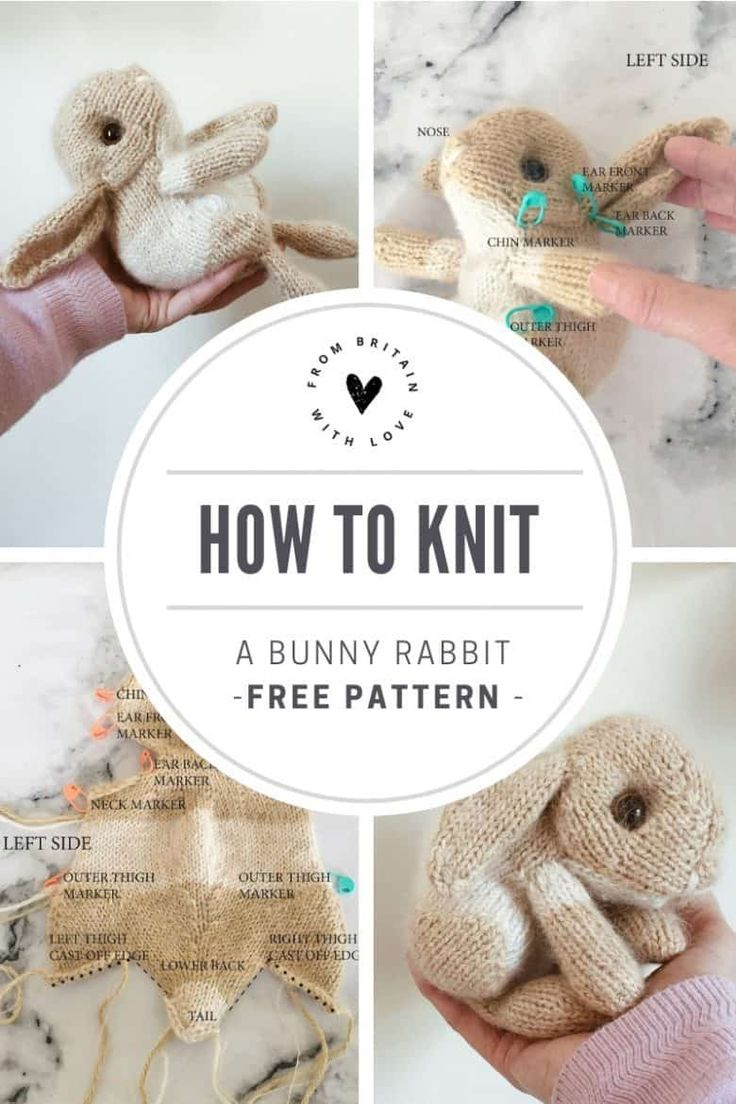 How to knit an Easter bunny – free pattern and step by step tutorial