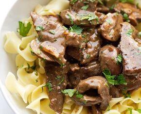 Μοσχαράκι με μανιτάρια σε υπέροχη κρεμώδη σάλτσα μουστάρδας με Μετσοβίτικες χυλοπίτες. Μια συνταγή για ένα εύκολη γρήγορο, πολύ νόστιμο πιάτο για το καθημε