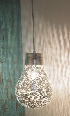 Zenza lamp (pierced metal)