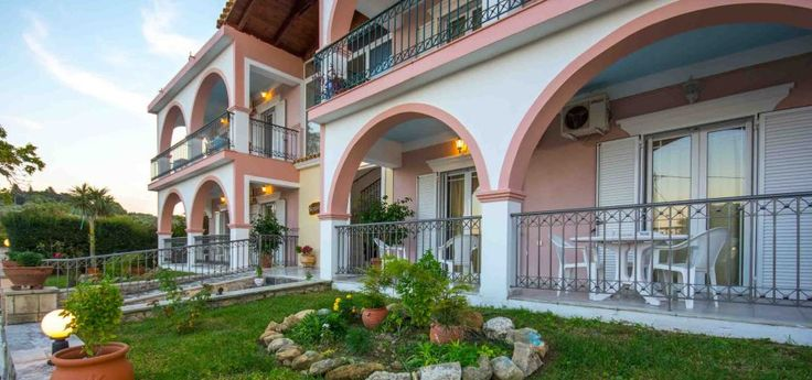 Neraida Apartments | Kypseli The Neraida Apartments complex is surrounded by a big, fenced, absolutely safe and colourful garden in Kypseli village on Zakynthos island.