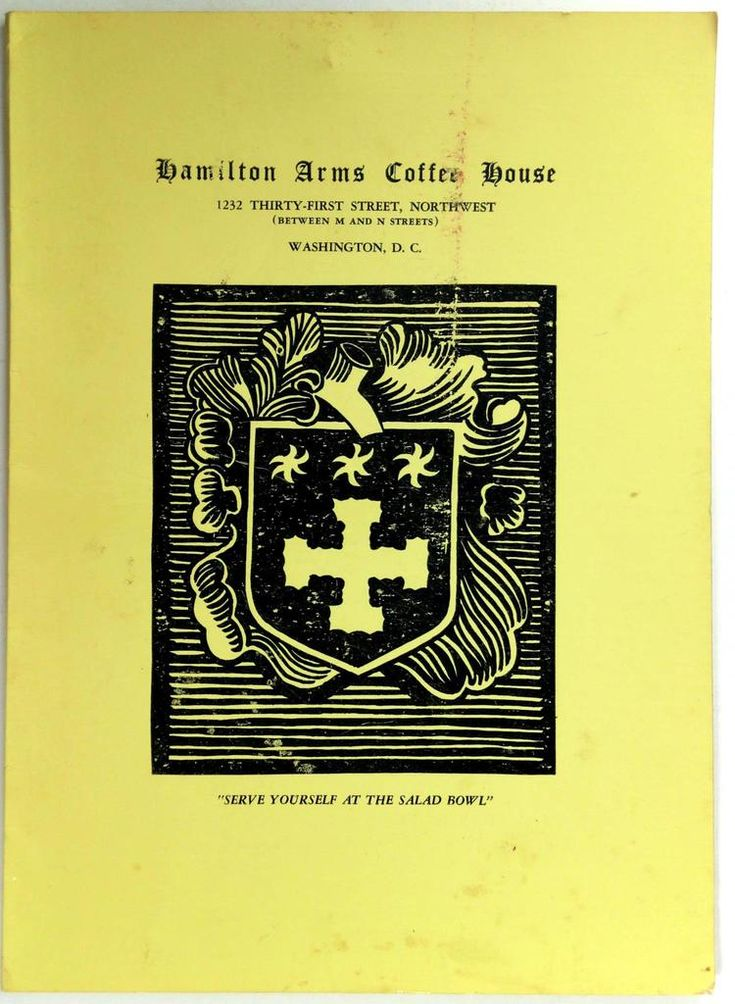 1950's HAMILTON ARMS COFFEE HOUSE Orihginal Restaurant