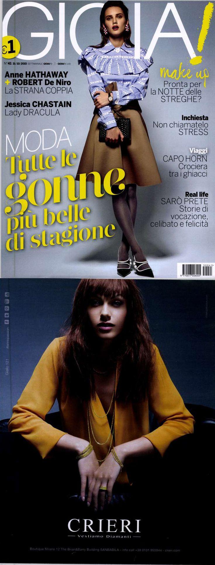 ❖Visto su #GIOIA – 31/10/2015❖ #giallo121 collection #tennis #bracelets #trendy #jewelry #fashion #gold #valenza #crieri #vestiamodiamanti #tennispassion #tennisclub #glamour #chic #lifestyle